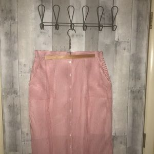 NWT Cremieux candy striped skirt